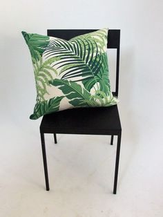 Tropical+palm+cushion+cover, £16.00 Fern palm green white jungle print cushions.