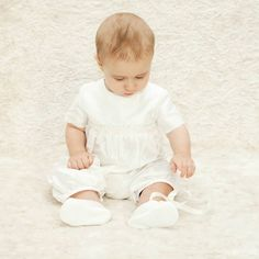 Sweet little baptism outfit for boys