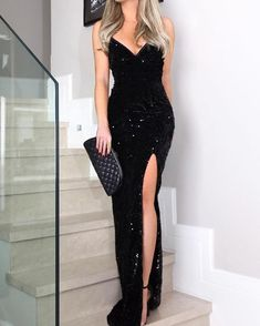 New Arrival Sexy Sleeveless Spaghetti Straps Black Prom Dress Bling Evening Gown Mermaid Evening Dresses Prom Dresses Black Mermaid Prom Dress Sexy Prom Dress Evening Dresses Black Prom Dresses 2020 Long Prom Dresses Uk, Sequin Evening Dresses, Formal Dresses, Wedding Dresses, Black Sequin Prom Dress, Summer Dresses, Dress Prom, Dress Black, Casual Dresses