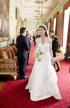 Kate Middleton now the Duchess of Cambridge at Buckingham Palace reception