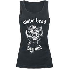 England - Girls Top by Motörhead - Article Number: 260489 - from 21.99 € - EMP Merchandising ::: The Heavy Metal Mailorder ::: Merchandise Shirts and More