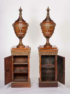 Rare Chippendale wine coolers at Harewood House. These pieces are beautifully carved and functional. They can be seen in the State Dining Room at Harewood House