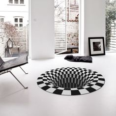 BLACK HOLE - Rug Design Illusion | Designed by Daniel Malik