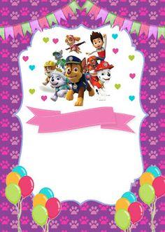 Decorando Minha Festa: Resultados da pesquisa patrulha canina Girl 2nd Birthday, 3rd Birthday Parties, Paw Patrol Birthday Invitations, Baby Posters, Paw Patrol Party, Crafts For Kids, Baby Shower, Cards, Paw Patrol Birthday