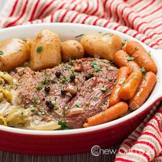 Slow Cooker Corned Beef with Cabbage is supremely fork tender and succulent. Every bite of beef and vegetables is full of flavor. Easy in a Crock Pot.