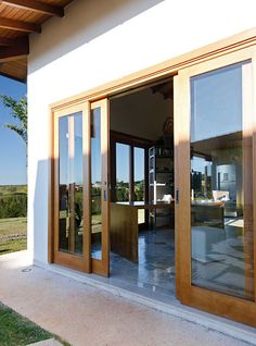 New Farmhouse Kitchen Rustic Sliding Doors Ideas Sliding French Doors, Sliding Door Design, Main Door Design, French Doors Patio, Sliding Patio Doors, Double Sliding Glass Doors, House Window Design, Door Design Interior, House Entrance