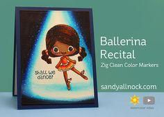 Ballerina Recital – Stamp Anniething – Sandy Allnock