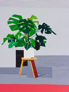 Plant Paintings. Oil on linen,  120 x 90cm, all 2014 Guy Yanai