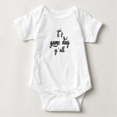 game day baby bodysuit