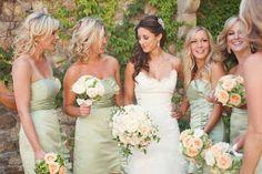 Light Pastel Green Bridesmaid Dresses | A Creative Life