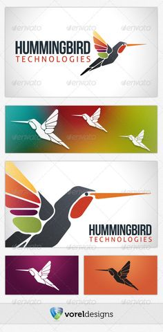 Buy Hummingbird Technologies by on GraphicRiver. This is an easy customizable logo that would suit an interactive, media, technology or corporate business. Logo Design Template, Logo Templates, Bird Logos, Paint Companies, Abstract Logo, Creative Illustration, Website Design Inspiration, Corporate Business, Technology Logo