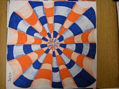 In art class we looked at some optical illusions and then drew our own using colored pencil and marker!