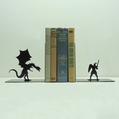 I love these bookends!!   Check out more at Knob Creek Metal Arts.   There are some for every taste!