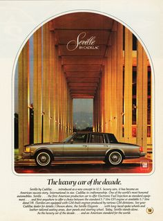1979 Cadillac Seville.  An early version of the car I drive today.
