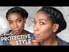 Asymmetrical Twisted Crown Protective Style Suggested Videos Flat Twist Hairstyles, Super Easy Hairstyles, Fast Hairstyles, Crown Hairstyles, Dreadlock Hairstyles, Black Hairstyles, Wedding Hairstyles, Protective Style Braids, Protective Hairstyles