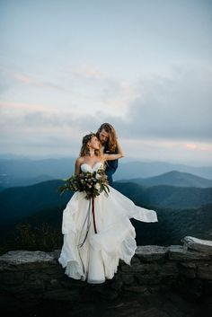 Some serious mountain magic happening in this elopement inspiration from Julia Madden Sears Lesbian Wedding, Elope Wedding, Wedding Couples, Wedding Bells, Dream Wedding, Wedding Dresses, Wedding Attire, Outdoor Wedding Inspiration, Elopement Inspiration