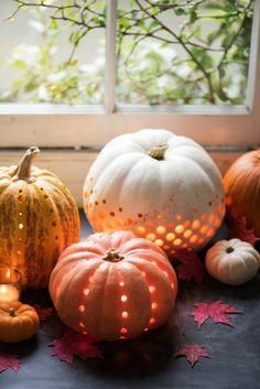 lanterne en citrouilles, bricolage halloween adulte a faire a la maison