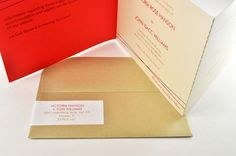 Modern TriFold Wedding Invitation with by down2earthpaperworks, $3.75