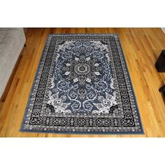 Gwinn Oriental Isfahan Country Blue Area Rug  Beautifully designed with unique colors that bring out the beauty of one of Astoria Grand best-selling area rugs, plush and soft yet durable to stand test of time, easy to maintain, this would be a value to any home.