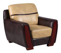 UFM226 Series Pluto Ivory Chocolate PU Chair