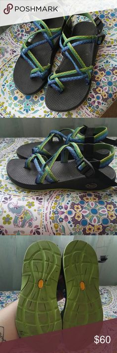 Chaco 'Fresh' Outdoor sandals This is a pair of outdoor sandals by Chaco. The style and color name is 'Fresh'. These have only been worn a handful of times and have very little wear all around. These are in awesome shape! Chaco Shoes Sandals