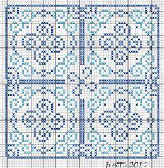 Deel5 van de SAL Delfts Blauwe tegels heeft doorlopende rondingen. Het doet me denken aande golven op de tegels rondom de Hollandse zeil...