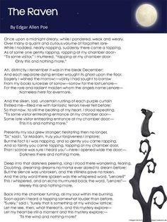 the raven by edgar allan poe lesson plans worksheets with key edgar allan edgar allan poe. Black Bedroom Furniture Sets. Home Design Ideas