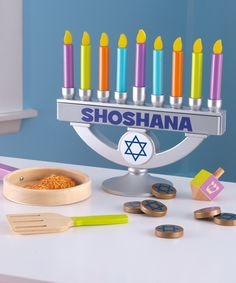 Look at this #zulilyfind! Blue Personalized Chanukah Set by KidKraft #zulilyfinds