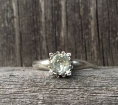 Vintage .925 Sterling Silver, Round Cut Cubic Zirconia, Size 9, Engagement/Wedding, Woman's Ring. by VintageNprints on Etsy https://www.etsy.com/listing/537742155/vintage-925-sterling-silver-round-cut