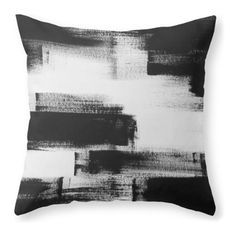 No. 85 Modern Abstract Black and White Painting Throw Pillow at Houzz, $30