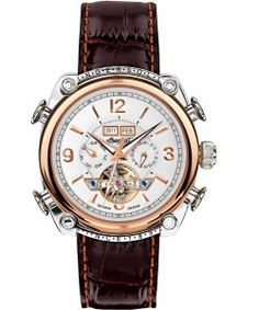 INGERSOLL Automatic Montgomery Brown Leather Strap IN4505RWH Ingersoll Watches, Brown Leather, Tan Leather, Brown Skin