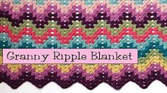how to crochet a granny ripple afghan - YouTube