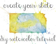 State Art Watercolor Tutorial | The Postman's Knock Would be fun to do with T, not just FL (tho I'd love that), but also any shapes she likes. hearts, butterflies. maybe using just the colors of her room?