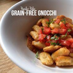Paleo Grain-Free Gnocchi on www.PopularPaleo.com   This recipe uses inexpensive ingredients -- no almond flour!
