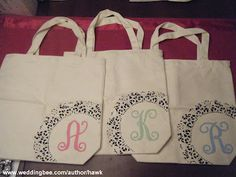 Gifting the Bridesmaids: DIY Monogram Totes :  wedding bridesmaid gifts richmond Dscf576 DSCF576