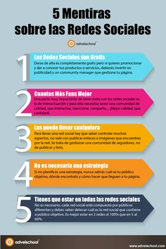 5 Mentiras sobre las Redes Sociales #infografia #infographic #socialmedia