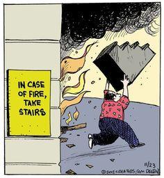 In case of fire....