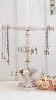 DIY Repurposed Jewelry Holder - White Lace Cottage