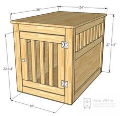(paid link) hidden dog crate furniture #diydogcrate Wood Dog Crate, Dog Crate Table, Diy Dog Crate, Dog Crate Furniture, Large Dog Crate, Dog Crates, Furniture Plans, Large Dogs, Table Furniture
