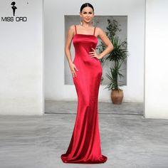d39411dfb7a7 Missord 2018 Sexy Women Off Shoulder Backless Vestidos Summer Dresses One  Neck Maxi Women Mermaid Dress
