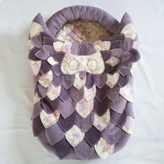 Sleepy-owl baby nest от LykkeByBelleDesigns на Etsy