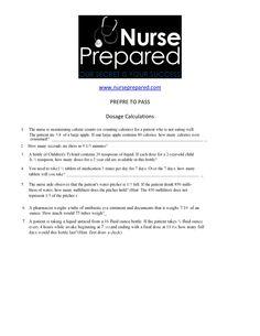 PREPARE TO PASS  Dosage Calculations Nursing Math, Lpn Nursing, College Nursing, Nursing Career, Nursing Students, Dosage Calculations, Nclex Rn, Pharmacology, Nurses