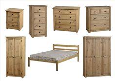 Seconique Panama Bedroom Furniture - Bedside, Drawers, Wardrobes, Beds - Pine