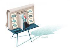 Editorial illustration for Psychologies on Behance Medicine Illustration, Illustration Art, Storyboard, Illustrator, Advertising Poster, Psychology, Behance, Cabinet, Storage