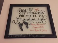 Best Parents Get Promoted to Grandparents Pregnancy Announcement by PersonalizedPerfect4