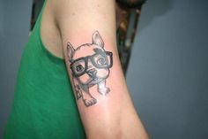 Cute dog tattoo! Makes me excited for the tattoo I will get of Bailey! :D