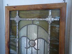 stained glass window panel SANTA FE от ZuniMountainArtGlass
