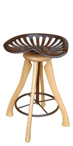 Tractor Seat Bar Stool - Bradford Woodworking