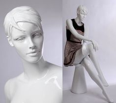 Eurotondisplay QT16-B abstract white gloss Mannequin female new