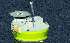 Floating Nuclear Power Plant that is Safer and Cheaper 6/25/15 The proposed Offshore Floating Nuclear Plant structure is about 45 meters in diameter, and the plant will generate 300 megawatts of electricity.